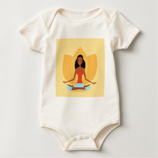 INDIA MEDITATION PRINCESS ART EDITION BABY BODYSUIT