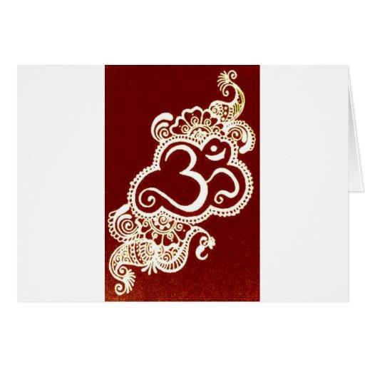 India mehndi red henna cards