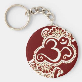 India mehndi red henna keychain