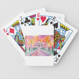 India palace at sunset bicycle playing cards