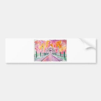 India palace at sunset bumper sticker