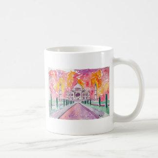 India palace at sunset coffee mug