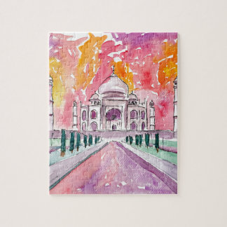 India palace at sunset jigsaw puzzle