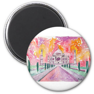 India palace at sunset magnet