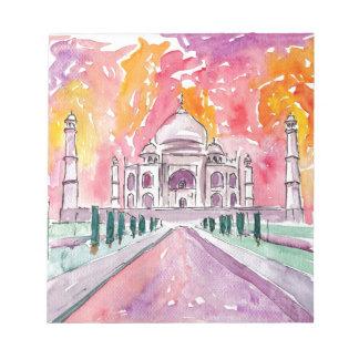 India palace at sunset notepad