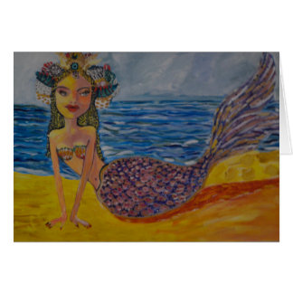 India Princess Mermaid Card