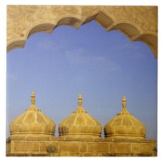 India, Rajasthan, Jaisalmer. Sandstone domes Tiles
