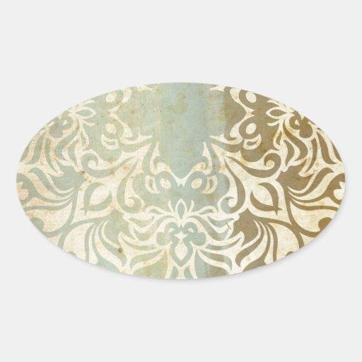 India Sand & Sea Oval Stickers