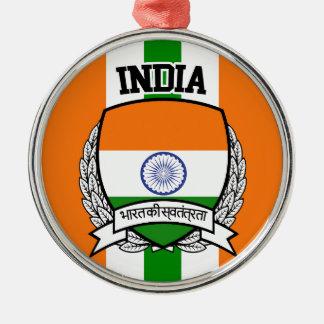 India Silver-Colored Round Ornament