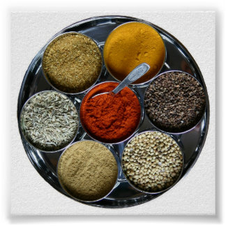 India spice tray poster