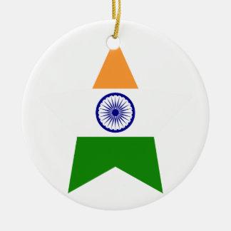 India Star Ceramic Ornament