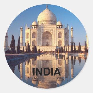 India Taj-mahal angie Round Sticker