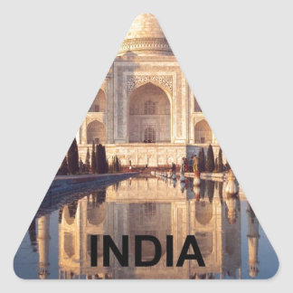 India Taj-mahal angie Triangle Sticker