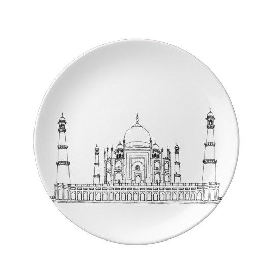 India - Taj Mahal Porcelain Plates