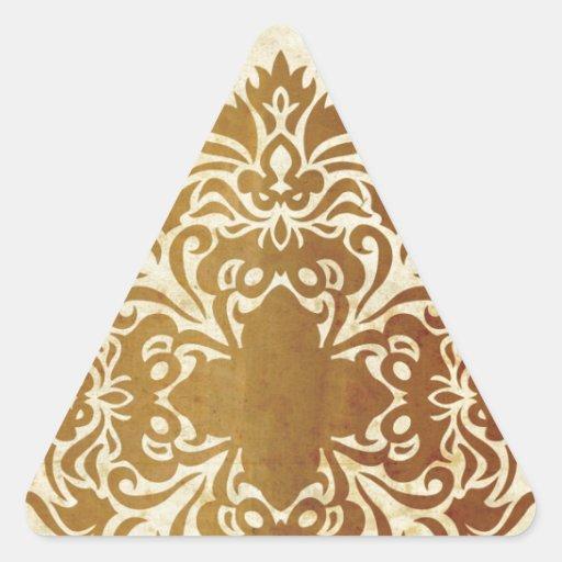 India Tea & Leaf Triangle Sticker