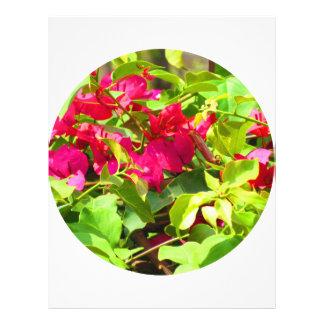India travel flower bougainvillea floral emblem custom letterhead
