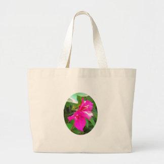 India travel flower bougainvillea floral emblem large tote bag
