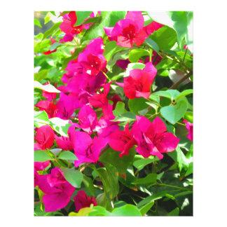 India travel flower bougainvillea floral emblem letterhead