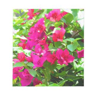 India travel flower bougainvillea floral emblem notepad