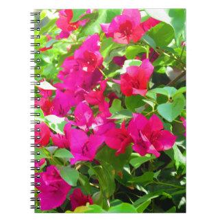 India travel flower bougainvillea floral emblem spiral notebook