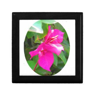 India travel flower bougainvillea floral emblem trinket box