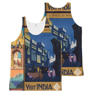 India Travel Poster collage art tanktop