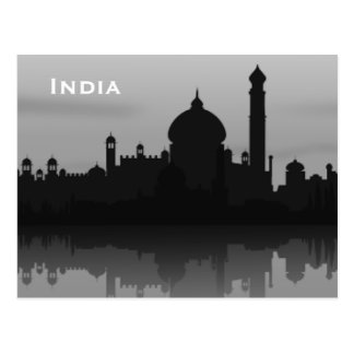 India Vintage Tourism Travel Add Postcard