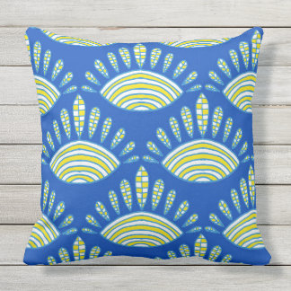Indian abstract background throw pillow