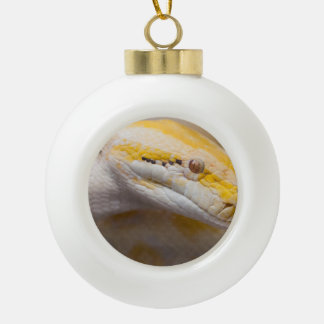 Indian Albino Python Ho Chi Minh City Zoo, Vietnam Ceramic Ball Christmas Ornament
