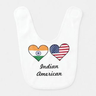Indian American Flag Hearts Bib