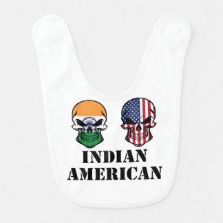 Indian American Flag Skulls Bib