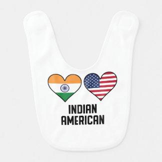 Indian American Heart Flags Bib