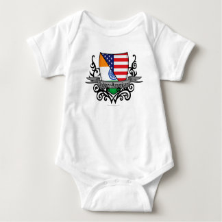 Indian-American Shield Flag Baby Bodysuit