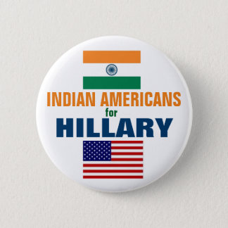 Indian Americans for Hillary 2016 2 Inch Round Button