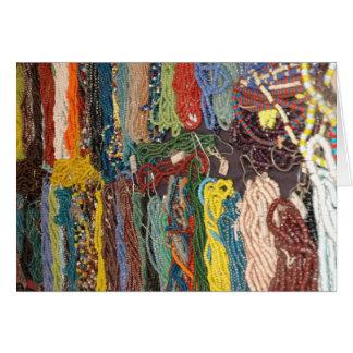 Indian Artifact beads Card