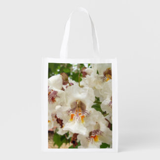 Indian Bean Tree Flowers Reusable Bag