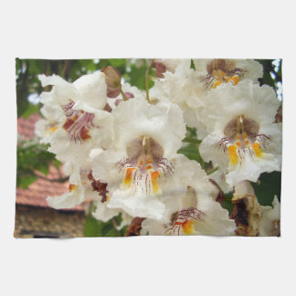 Indian Bean Tree Flowers Tea Towel