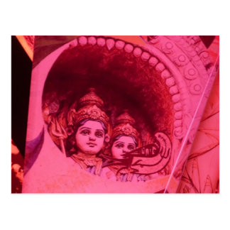 Indian beautifulnesses in crystal postcard