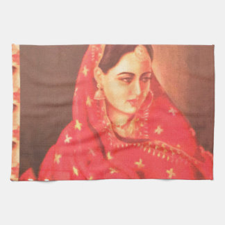 Indian beauty bride girl female woman goddess gift kitchen towels