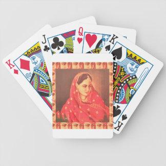 Indian beauty bride girl female woman goddess gift poker deck