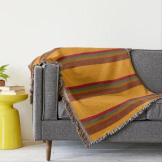 Indian Blanket Palette Stripes Throw