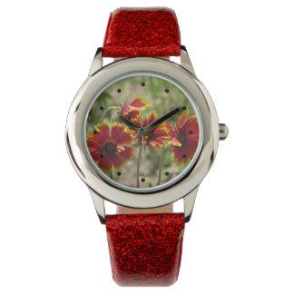 Indian Blanket Wildflowers Wrist Watches