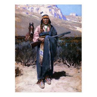 Indian Brave 1891 Postcard