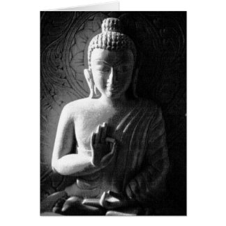 Indian Buddha - black and white Card