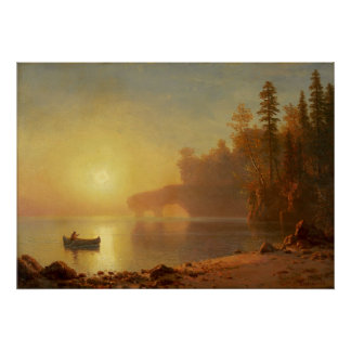 Indian Canoe by Albert Bierstadt Poster