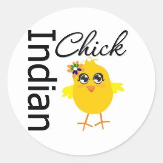 Indian Chick Sticker