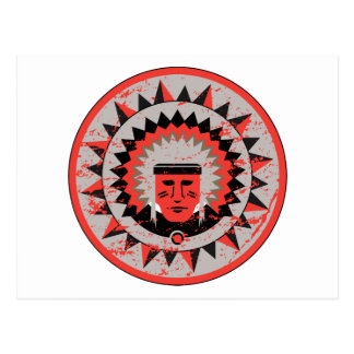Indian Chief Grunge Postcard