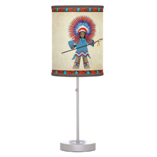 Indian Chief Lamp for Kids