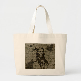Indian chief large tote bag