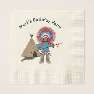 Indian Chief Party Napkins - Kids' Party Disposable Napkin